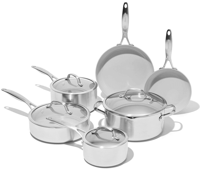 GreenPan Venice Pro Ceramic Non-Stick Cookware 10-Piece Set