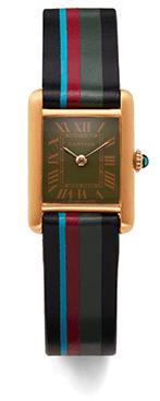 striped watch