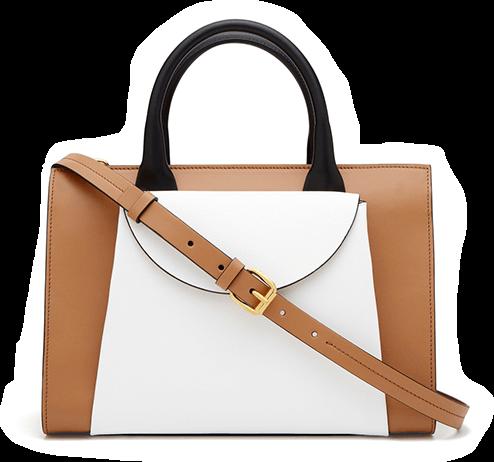 brown+ white bag