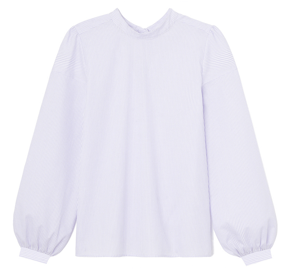 G. Label Nicolle Bow-Back Puff-Sleeve Top