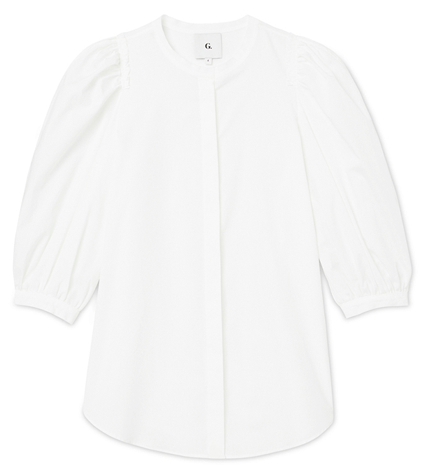 G. Label Tracey Puff-Sleeve Button-Down