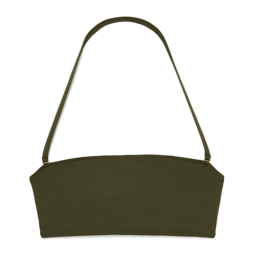 Army green bandeau top