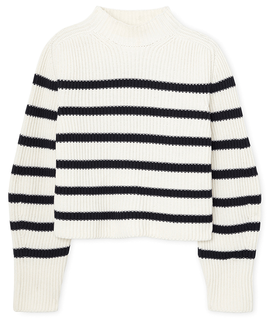 G. Label Lucy Striped Funnel-Neck Sweater
