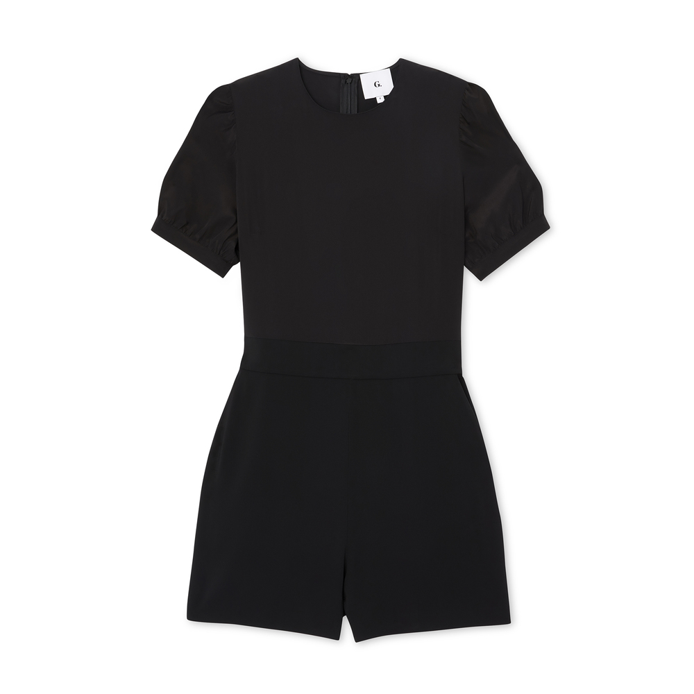 G. Label Jamie Puff-Sleeve Romper