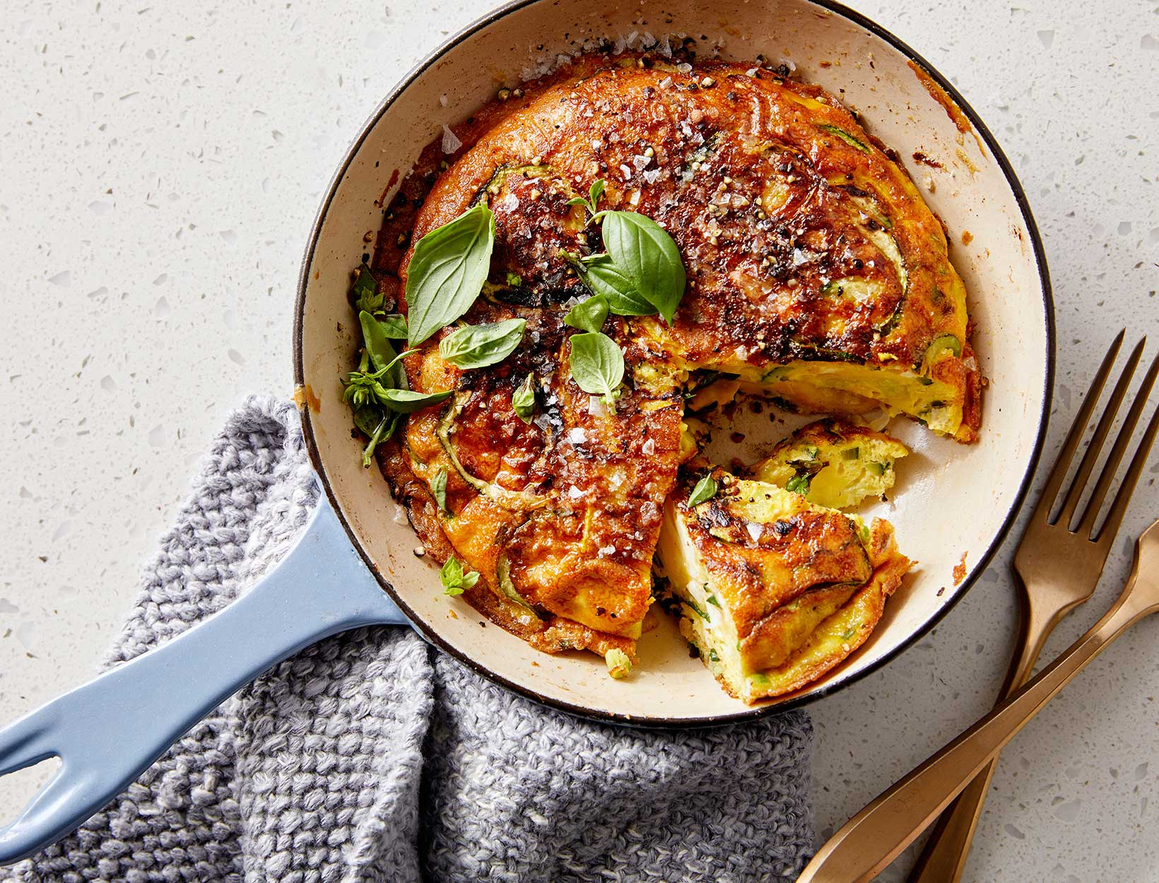 Frittata with Zoodles andHerbs