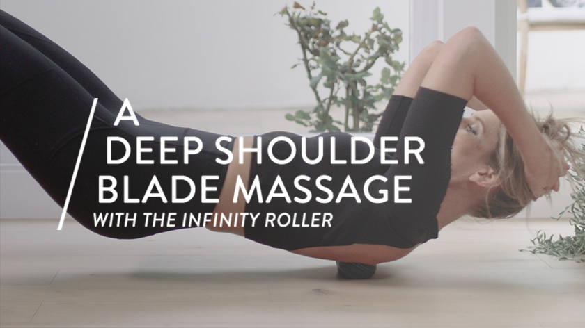 A Deep Shoulder Blade Massage with the Infinity Roll