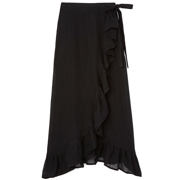 Lisa Marie Fernandez Ruffle Wrap Skirt