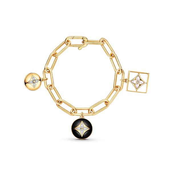 Louis Vuitton Blossom Bracelet Yellow Gold Onyx White Mother of Pearl and Diamonds
