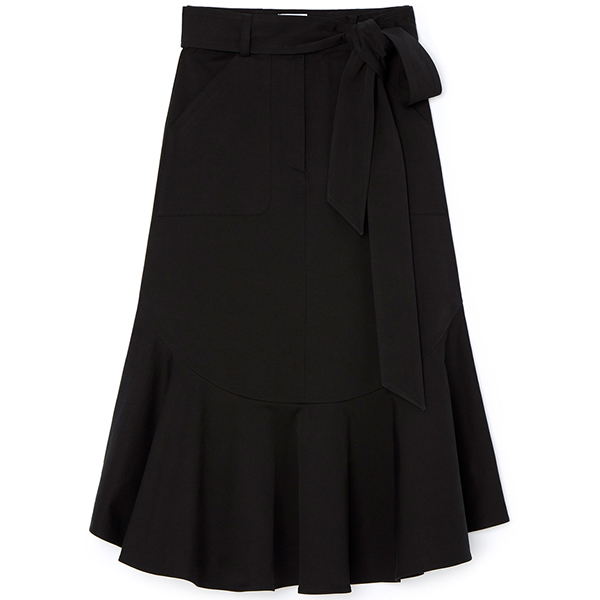 G. Label Diane A-Line Peplum Skirt