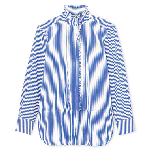 G. Label Peri Tie-Neck Short-Sleeve Shirt