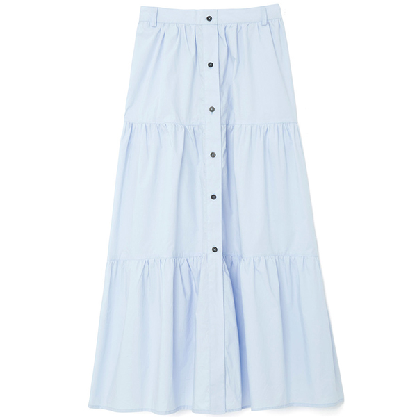 Solid & Striped Button Down Skirt