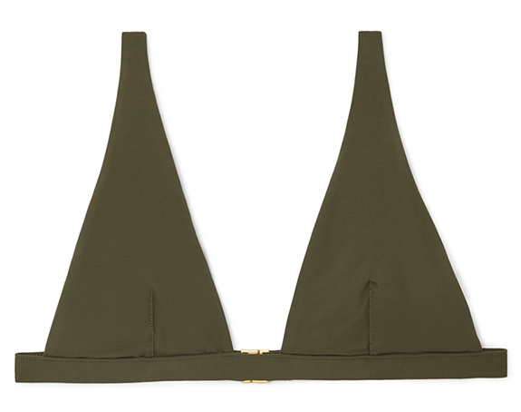 G. Label V Bikini Top in Olive