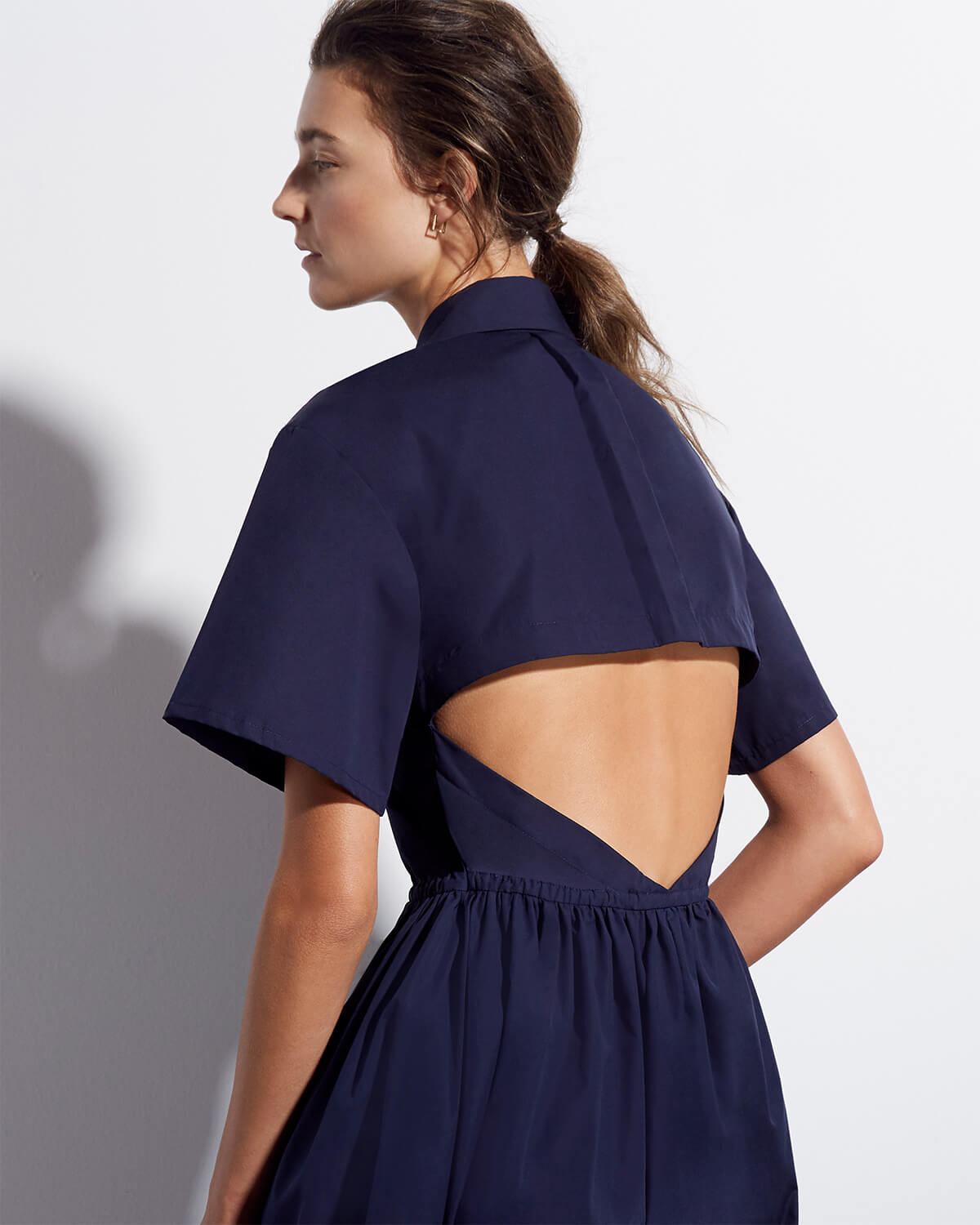 goop x Rosie Assoulin Cutout Shirtdress