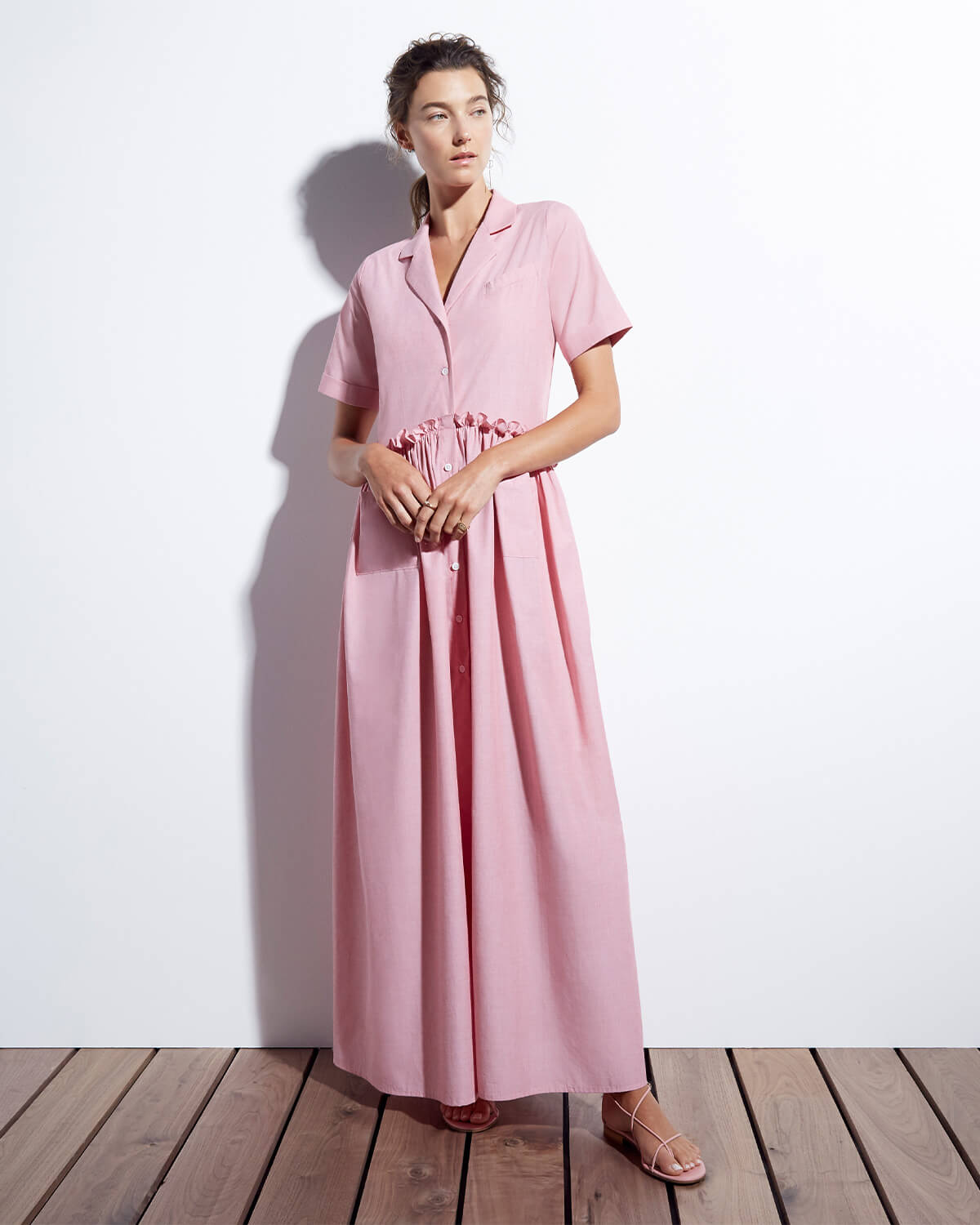 goop x Rosie Assoulin Gathered Maxidress
