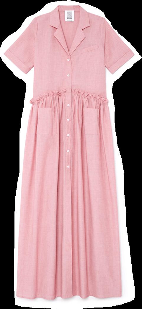 goop x Rosie Assoulin Gathered Maxi Dress