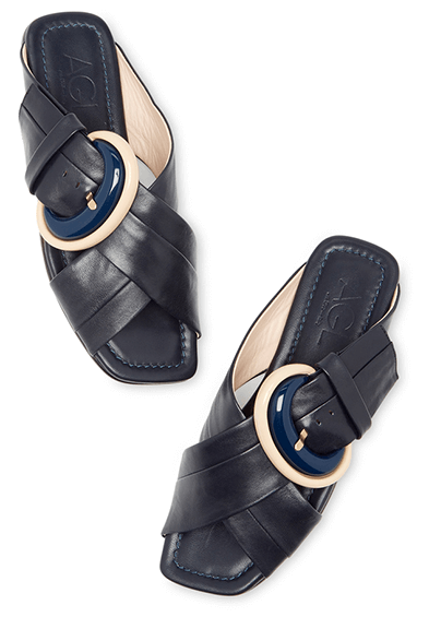 AGL NAVY BUCKLE SANDALS