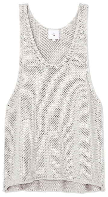 Grey knit tank top