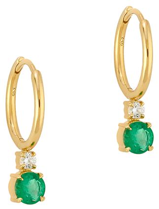 Jemma Wynne Petite Huggies with Emerald Drop