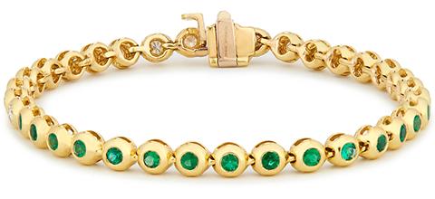 Jemma Wynne Emerald and Diamond Tennis Bracelet
