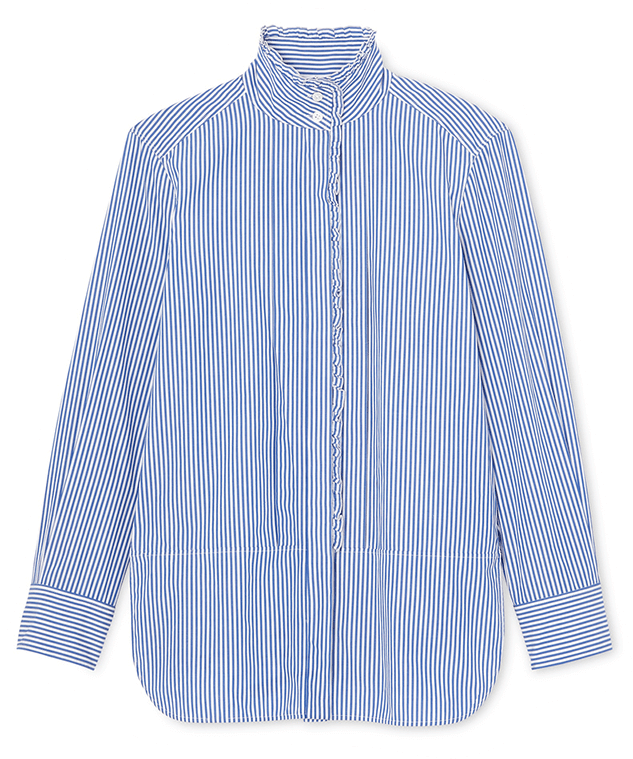 G. Label Bessie Pleat-Collar Button-Down Shirt
