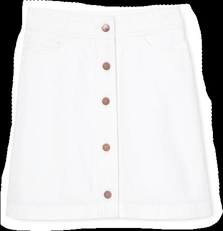 G. Label Robinson Denim A-Line Miniskirt