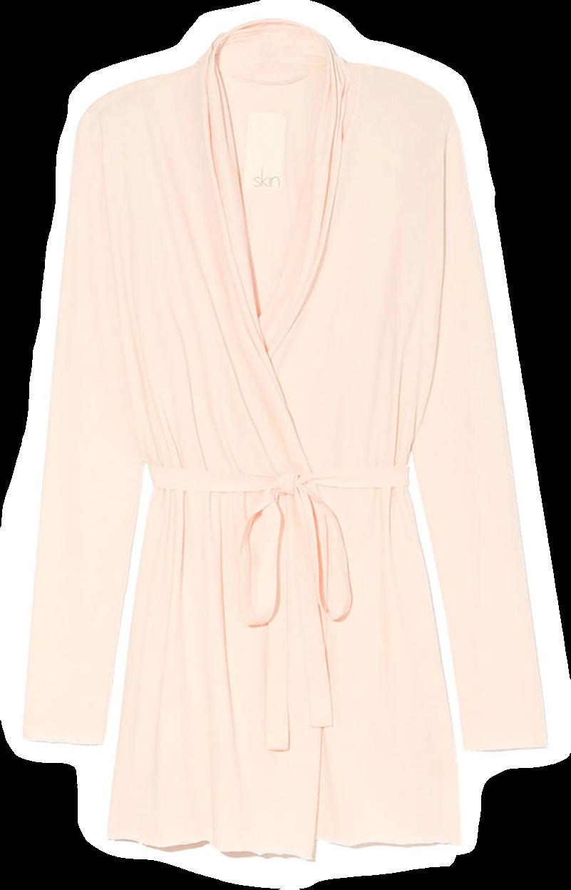 Skin Double Layer Wrap Robe