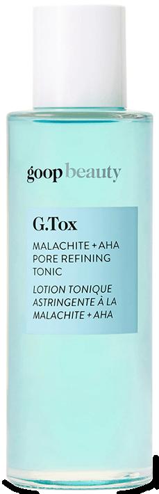 goop Beauty G.Tox Malachite + AHA Tonic Refining Tore