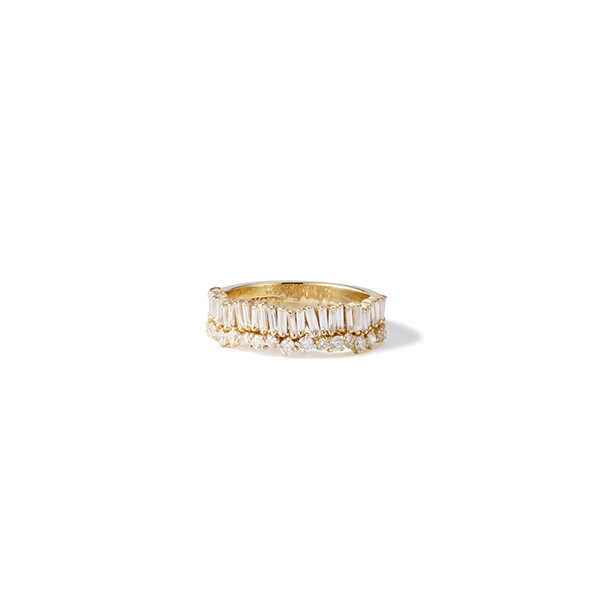 Suzanne Kalan Baguette Diamond Ring
