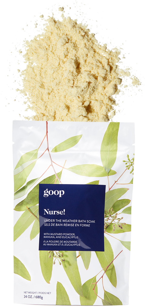 goop Beauty Nurse! Under the Weather Bath Soak