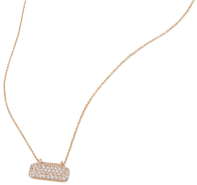 Sophie Ratner HORIZONTAL DIAMOND STUDDED NECKLACE