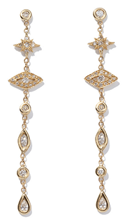 Jacquie Aiche Star Eye Diamond Drop Earrings
