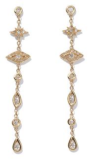 Jacquie Aiche Star Eye Diamond Drop Earrings