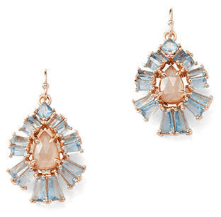 Nak Armstrong Pleated Teardrop Earrings