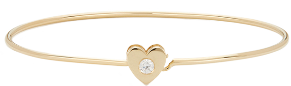 Ariel Gordon HEART CATCH 14K YELLOW-GOLD CUFF