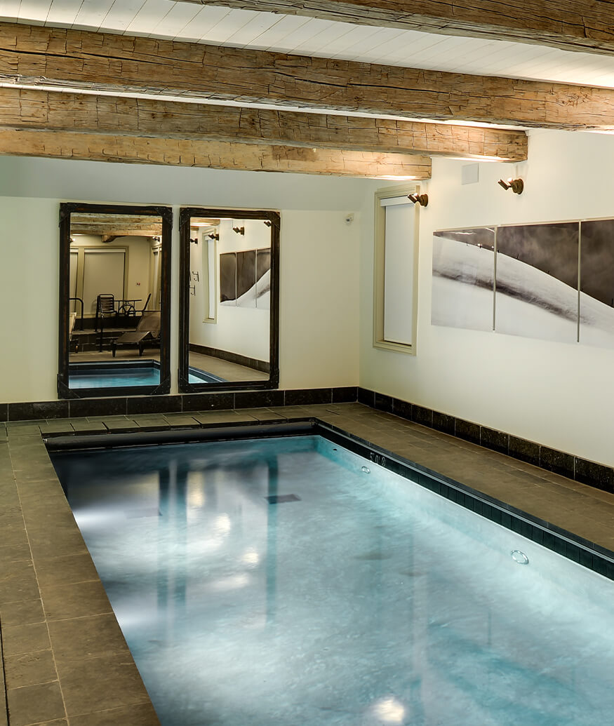 cabin interior with swimming pool