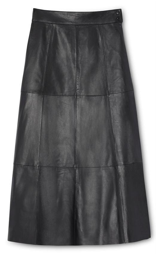 G. Label Marilyn Midilength Leather Skirt