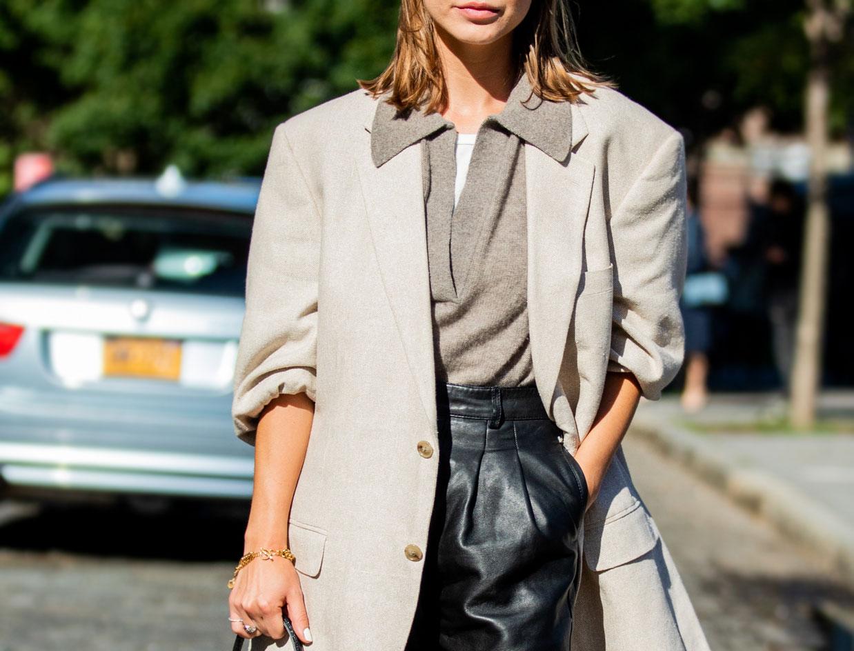 woman wearing layers