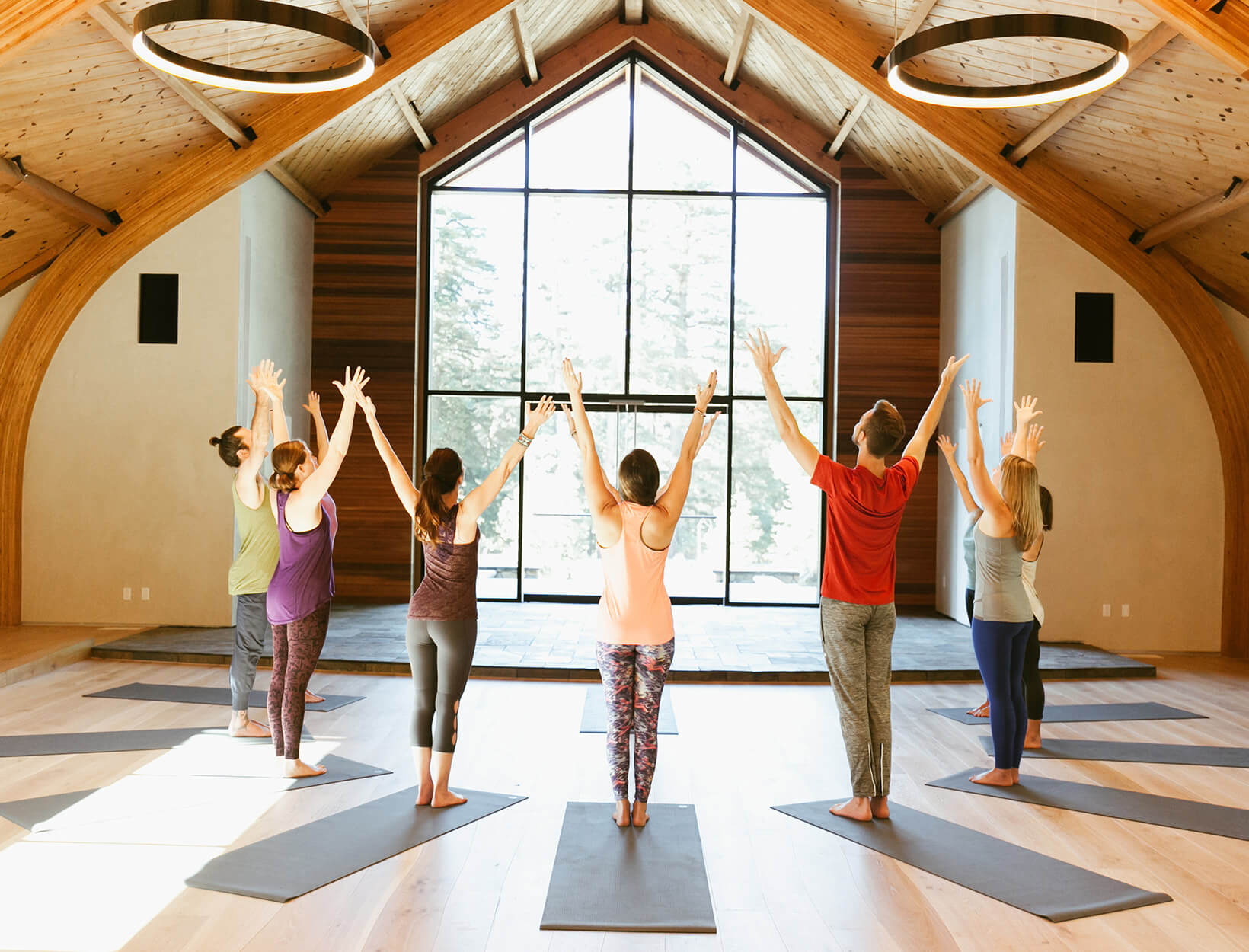 people doing yoga