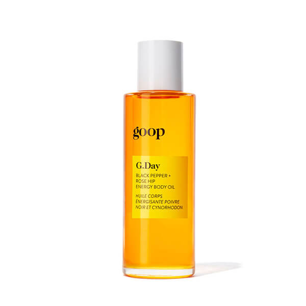 goop Beauty rosehip energy body oil