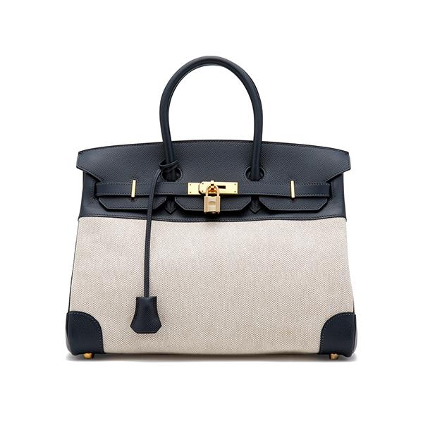 Hermès Vintage Navy Birkin Bag