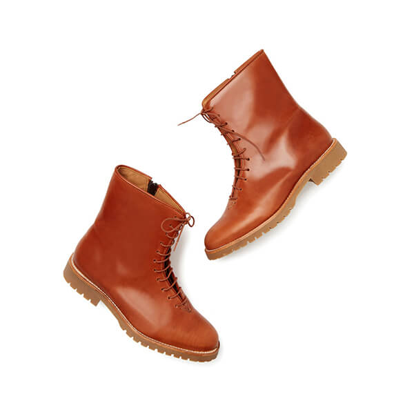 JJ gray peter leather lace up boots