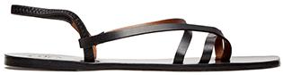 atp atelier lizza black leather sandals