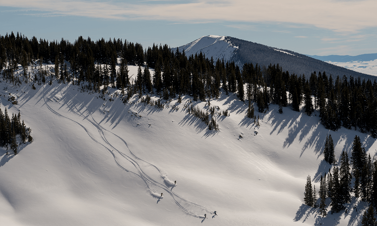 skiers on a mountain