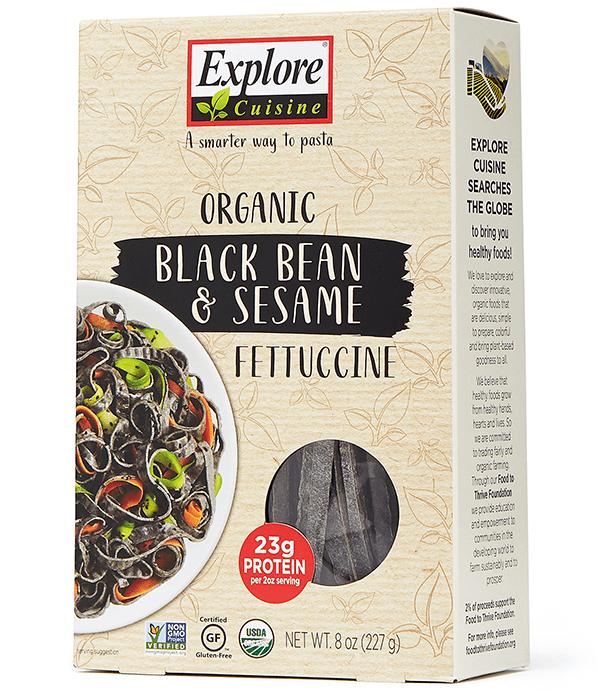EXPLORE CUISINE BLACK BEAN & SESAME FETTUCCINE