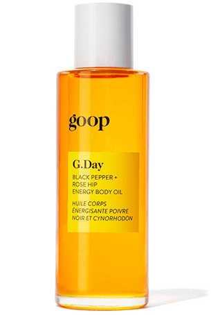goop Beauty rosehip energy body oil
