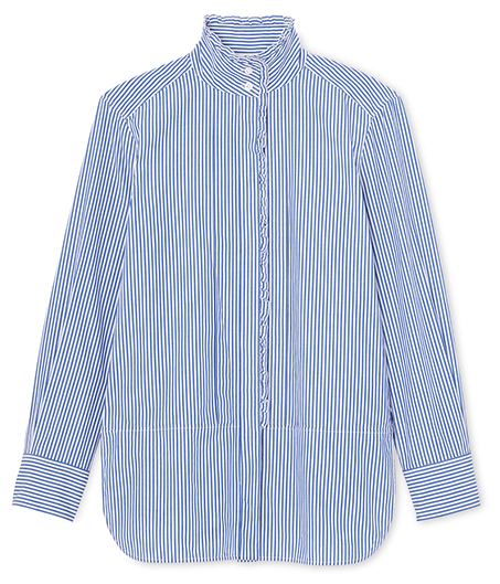G. Label Bessie Pleat Collar Button Down Shirt