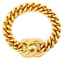 chanel gold turnlock bracelet