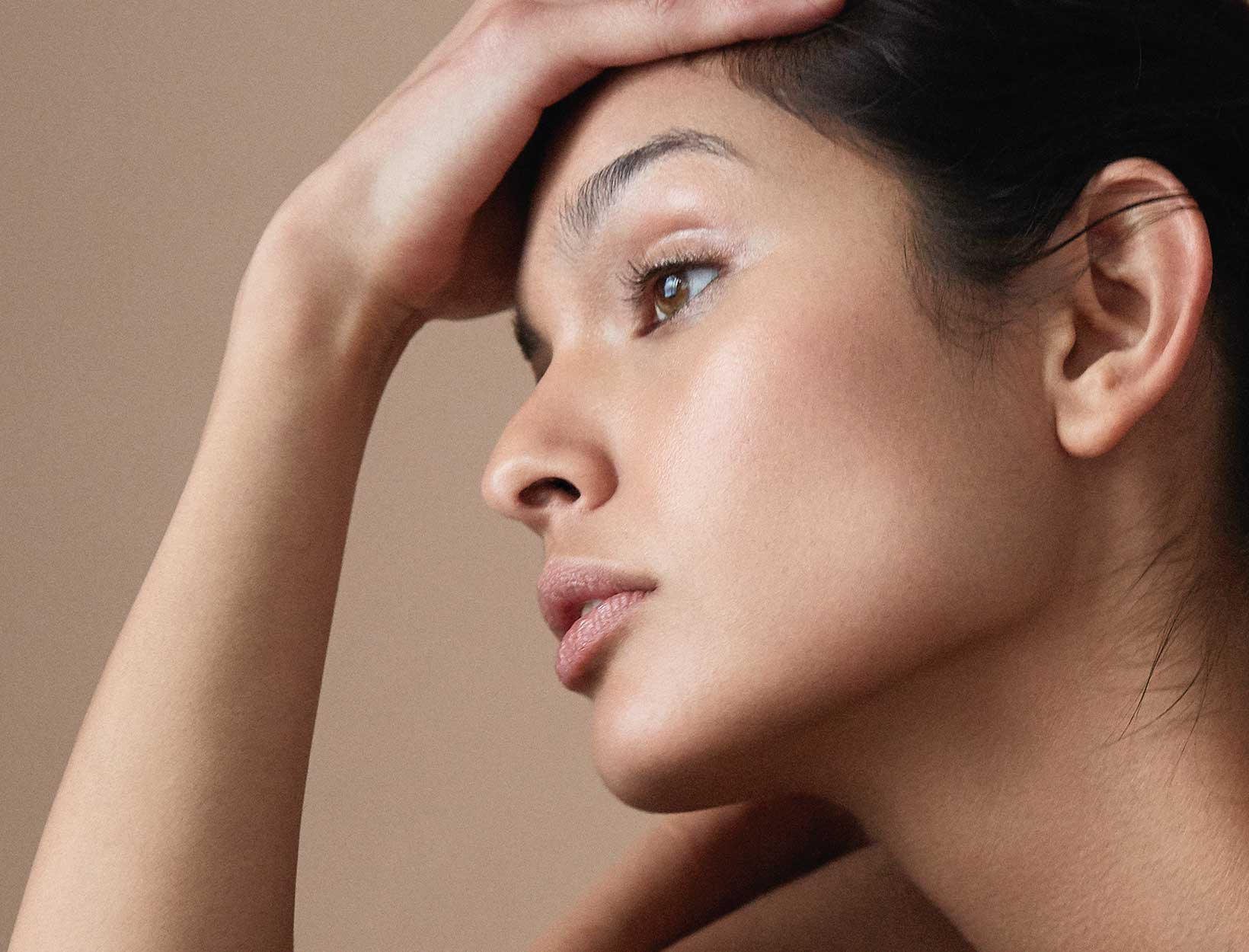 side view of woman's face
