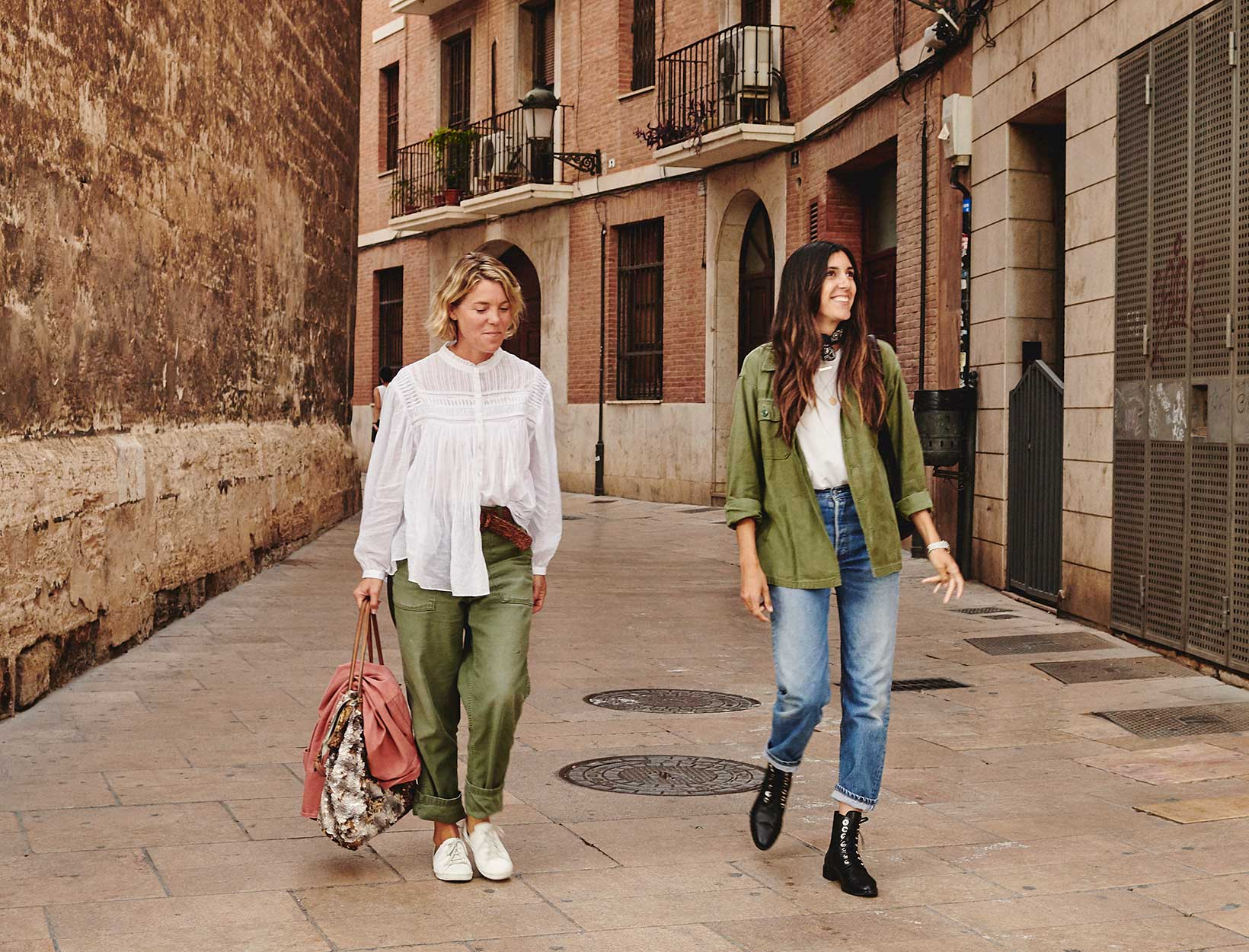 women walking in spain