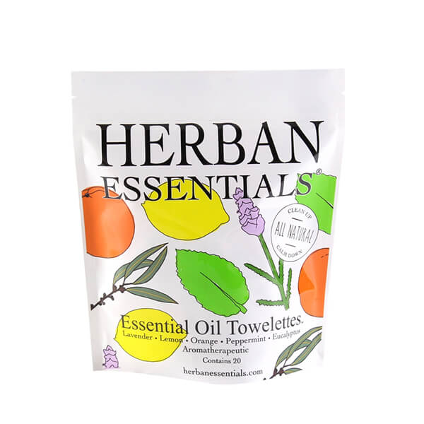 herban essentials essential oil towelettes
